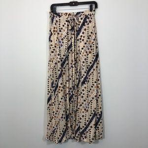 Free People boho print maxi skirt